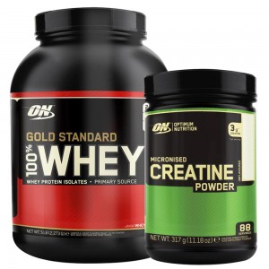 BUNDLE DEAL ON Gold Standard Whey 2.2KG + Creatine 300G
