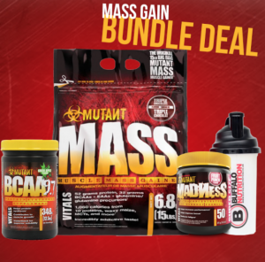 Mutant Bundle deal - Mutant mass 6.8kg + mutant bcaa 9.7 348g  + mutant madness pre workout 50 servings + Buffalo Shaker