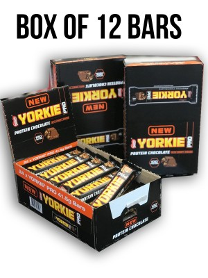 Yorkie Protein Chocolate Crisp Bar Box of 12 bars