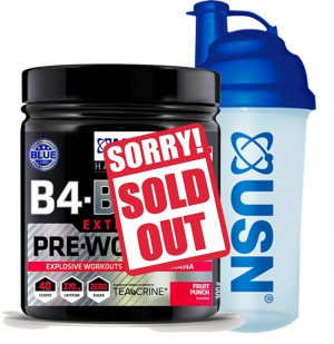 USN B4 BOMB EXTREME PRE WORKOUT 300G + SHAKER