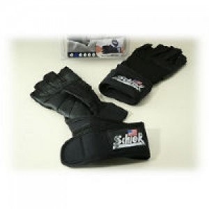 Schiek Platinum Lifting Gloves with Wrist Wrap